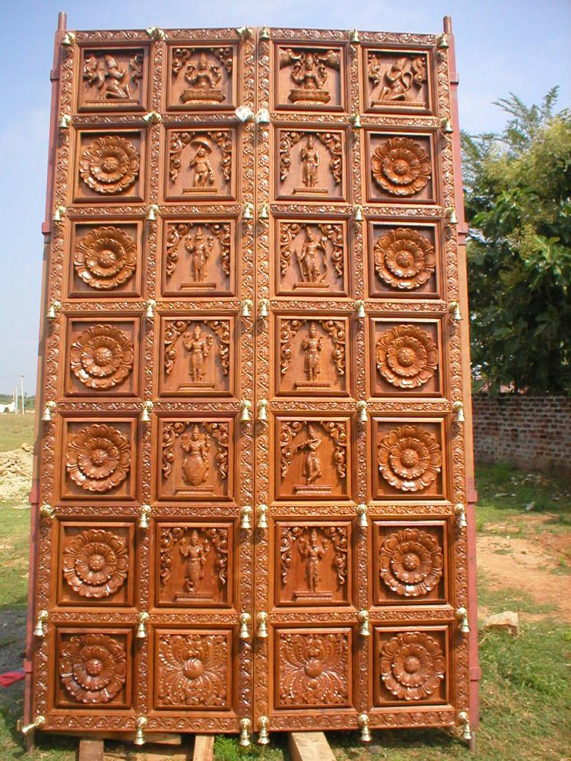 TEAK WOODEN TEMPLE DOOR